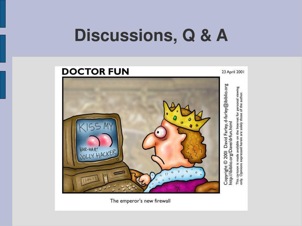 Discussions, Q & A