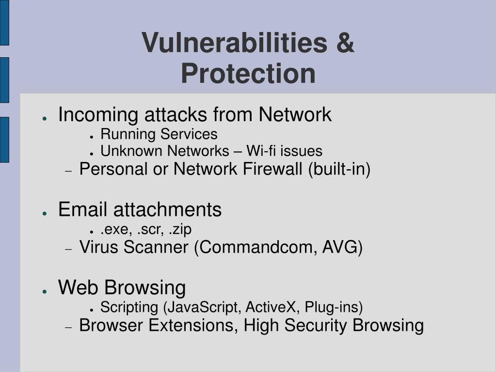 Vulnerabilities &