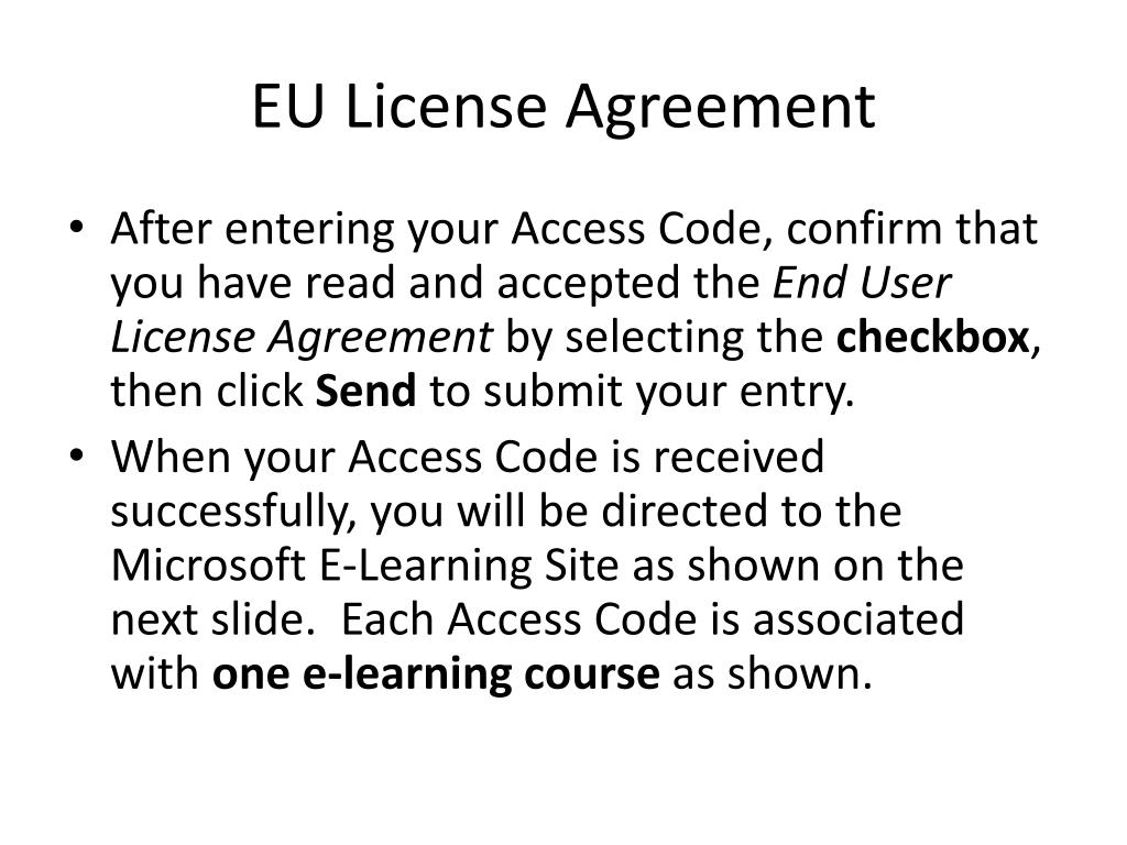 EU License Agreement