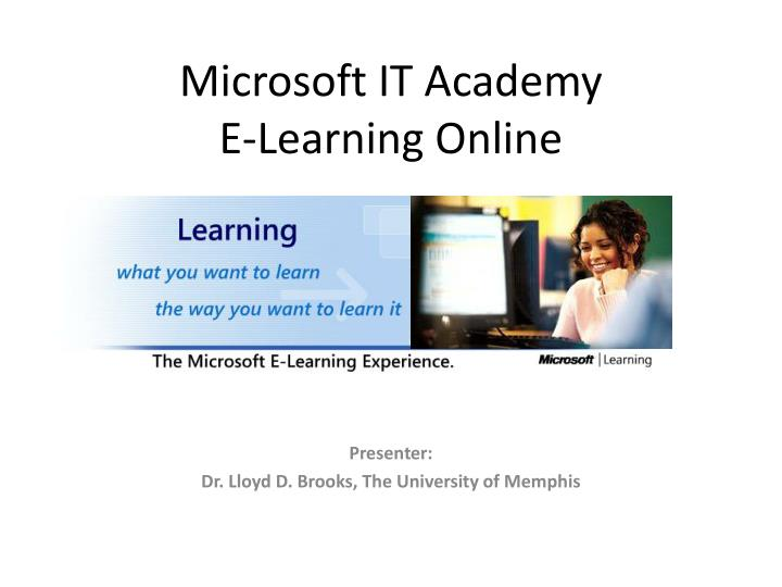 Microsoft it academy e learning online l.jpg
