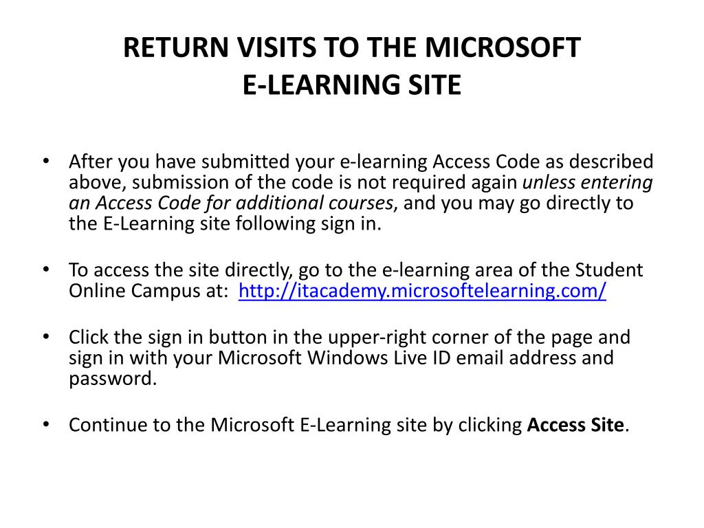 RETURN VISITS TO THE MICROSOFT