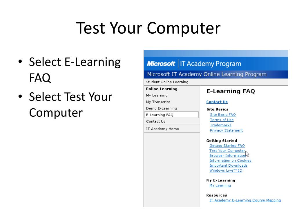 Test Your Computer