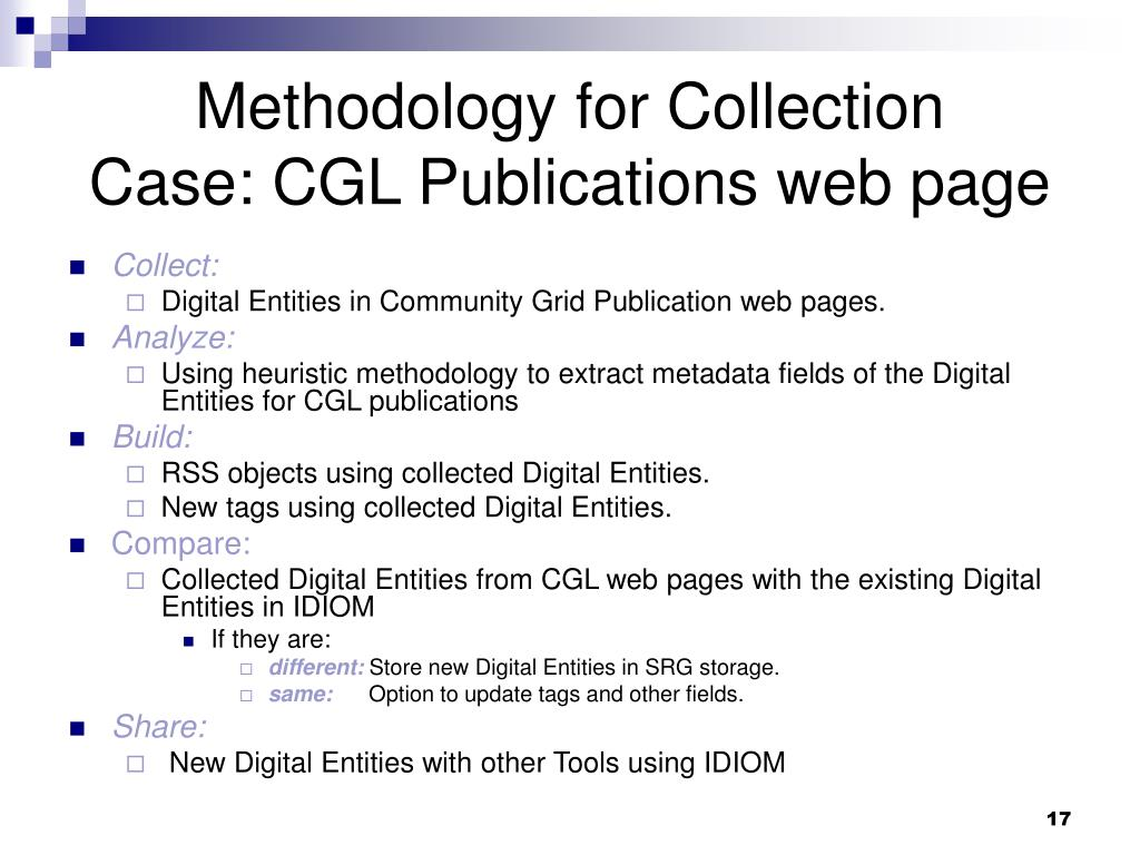 Methodology for Collection