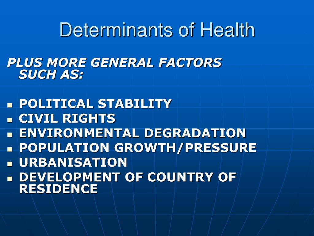 role of determinants on the onset of sti hiv The social determinants of health are the range of social, economic and environmental factors that determine the health status of individuals or populations social determinants of health play a role in hiv infection and the ability of people with hiv to seek treatment, care and support structural.