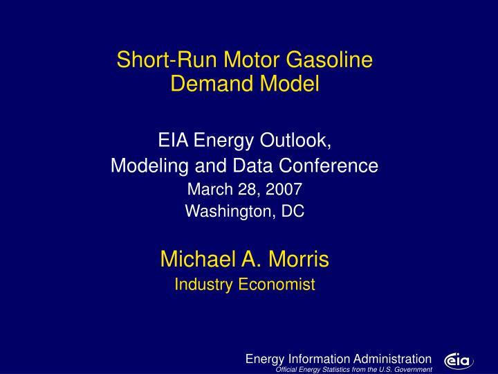 Motor gasoline model major developments and issues l.jpg