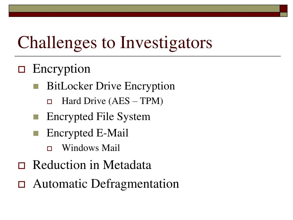 Challenges to Investigators