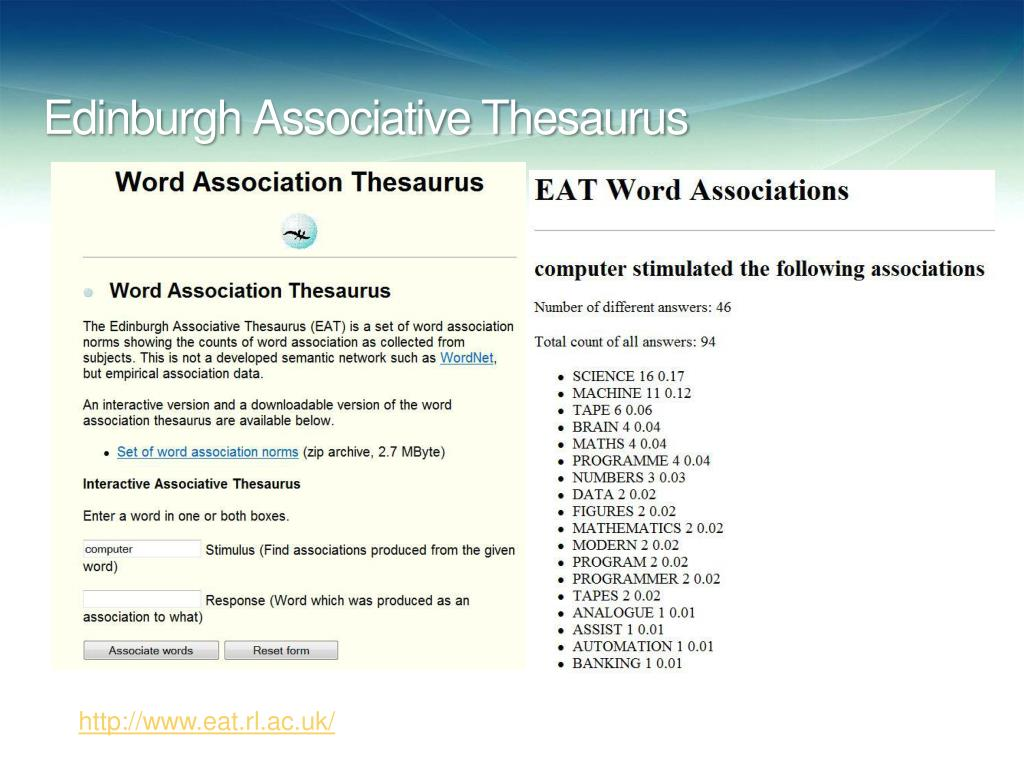 Edinburgh Associative Thesaurus