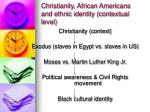 christianity african americans and ethnic identity contextual level