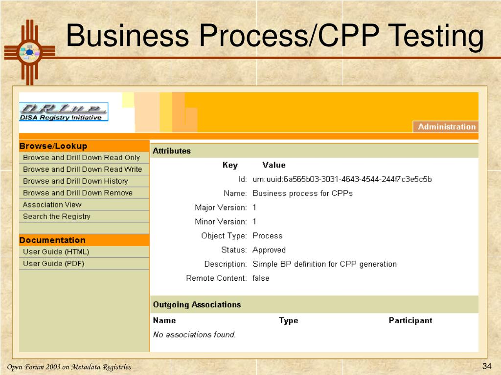 Business Process/CPP Testing