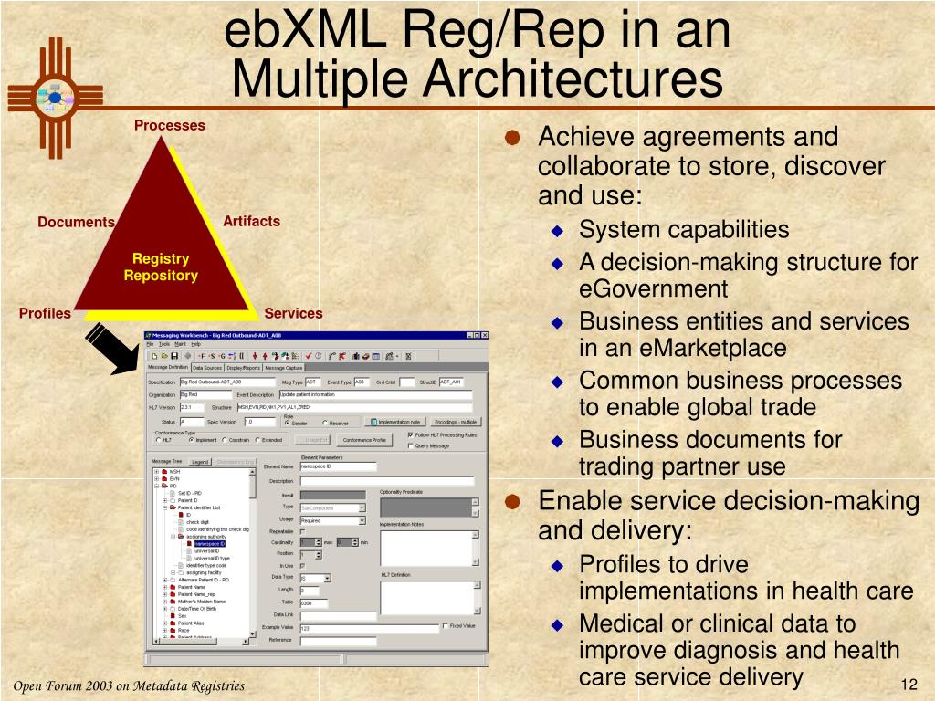 ebXML Reg/Rep in an
