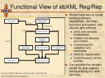 functional view of ebxml reg rep
