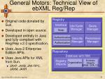 general motors technical view of ebxml reg rep