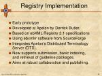 registry implementation