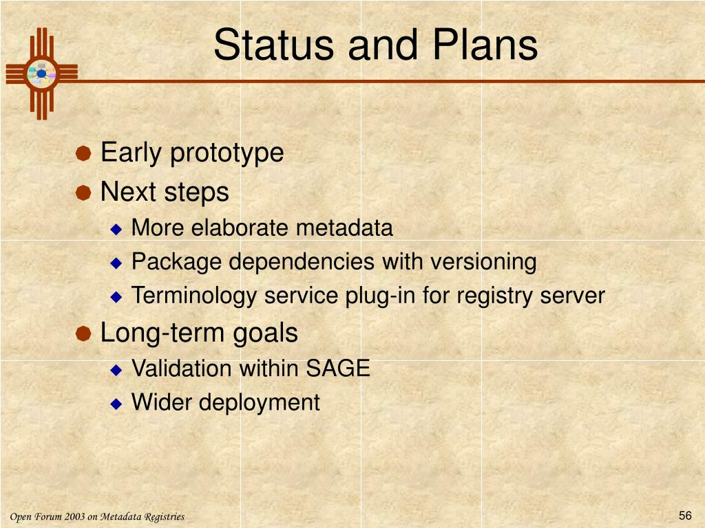 Status and Plans