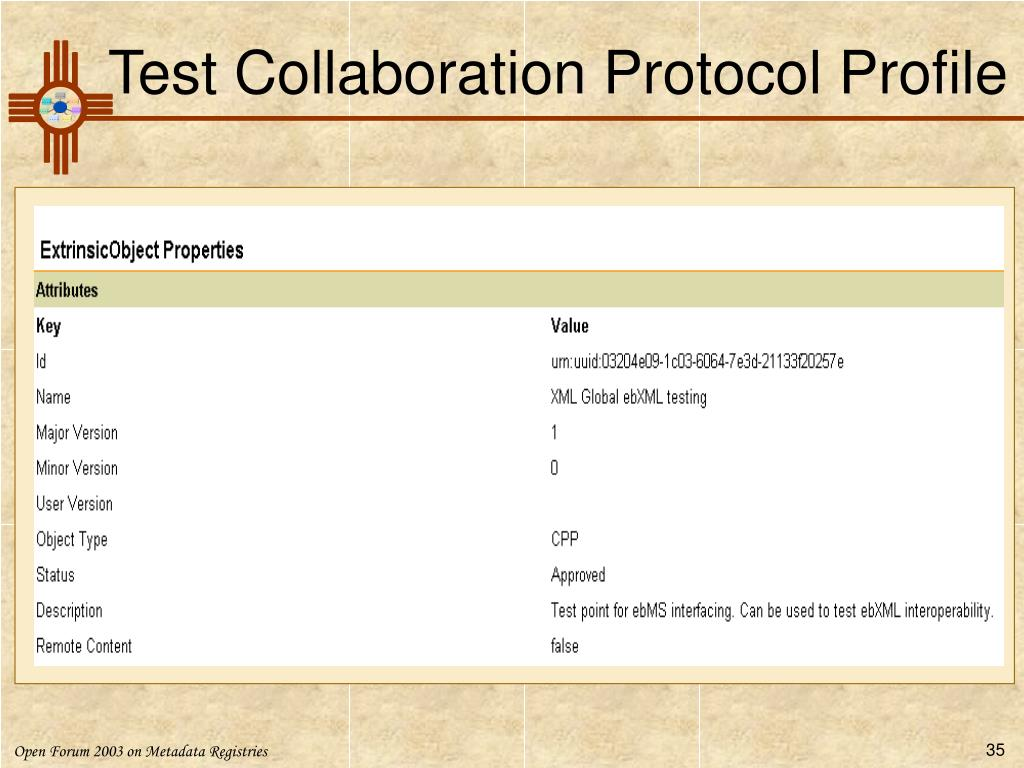Test Collaboration Protocol Profile