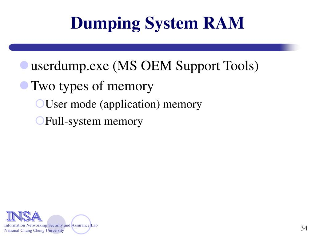 Dumping System RAM