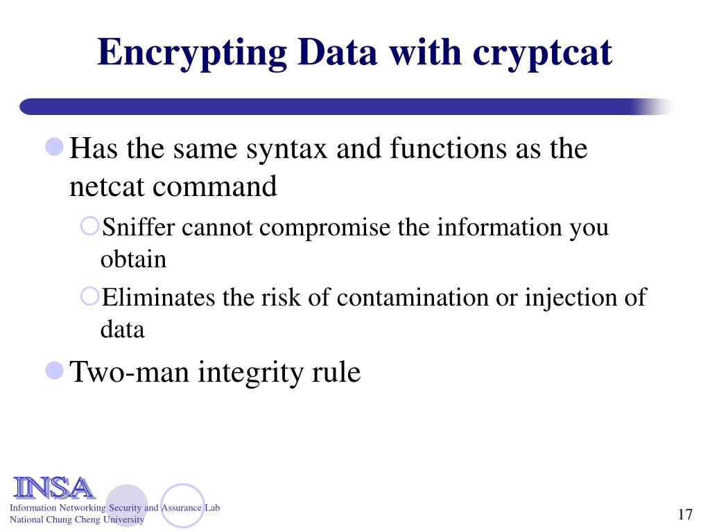 Encrypting Data with cryptcat