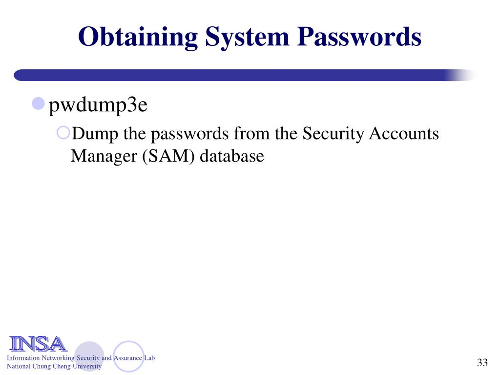 Obtaining System Passwords
