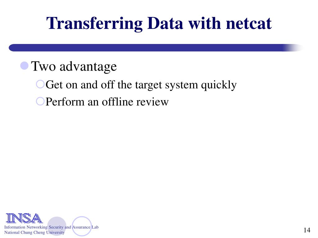 Transferring Data with netcat