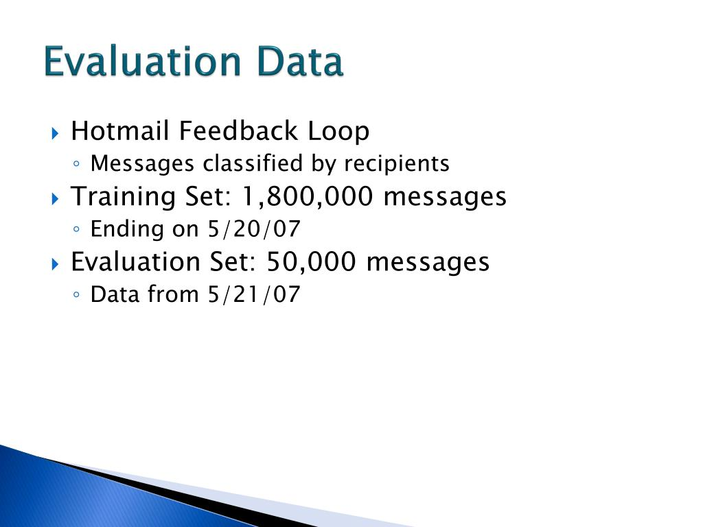 Evaluation Data