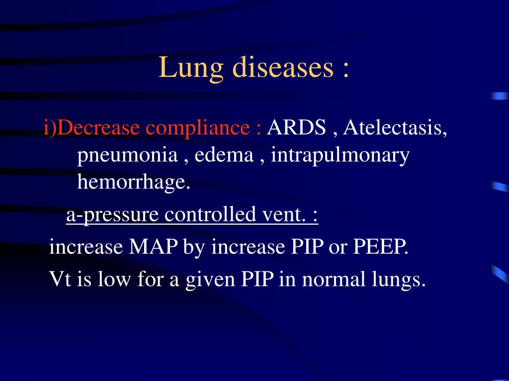 Lung diseases :