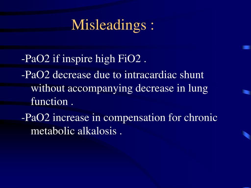 Misleadings :