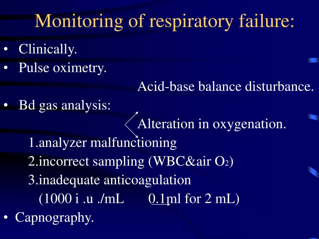 Monitoring of respiratory failure: