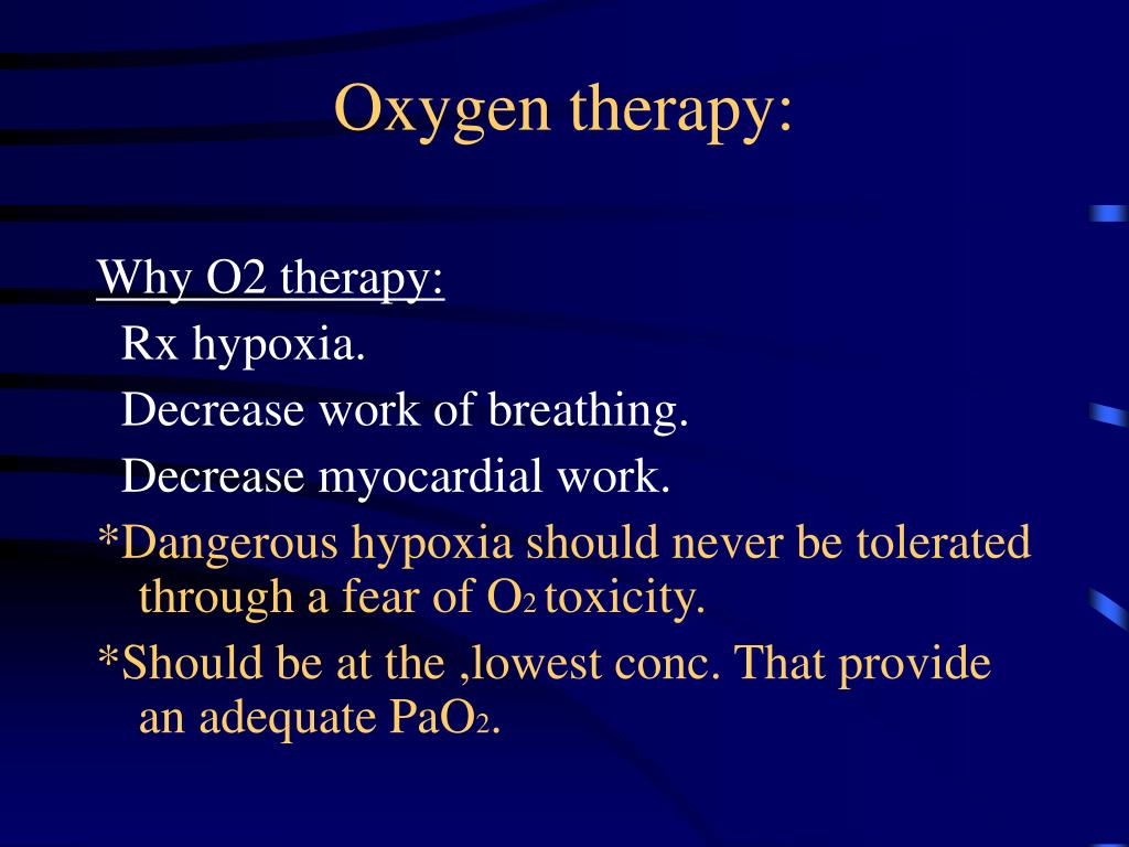 Oxygen therapy: