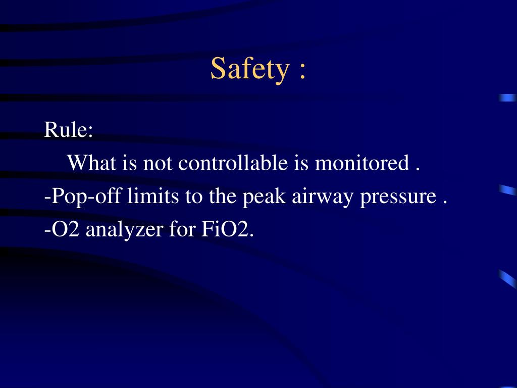 Safety :