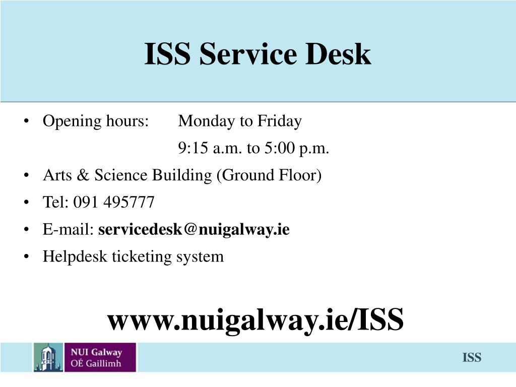 ISS Service Desk