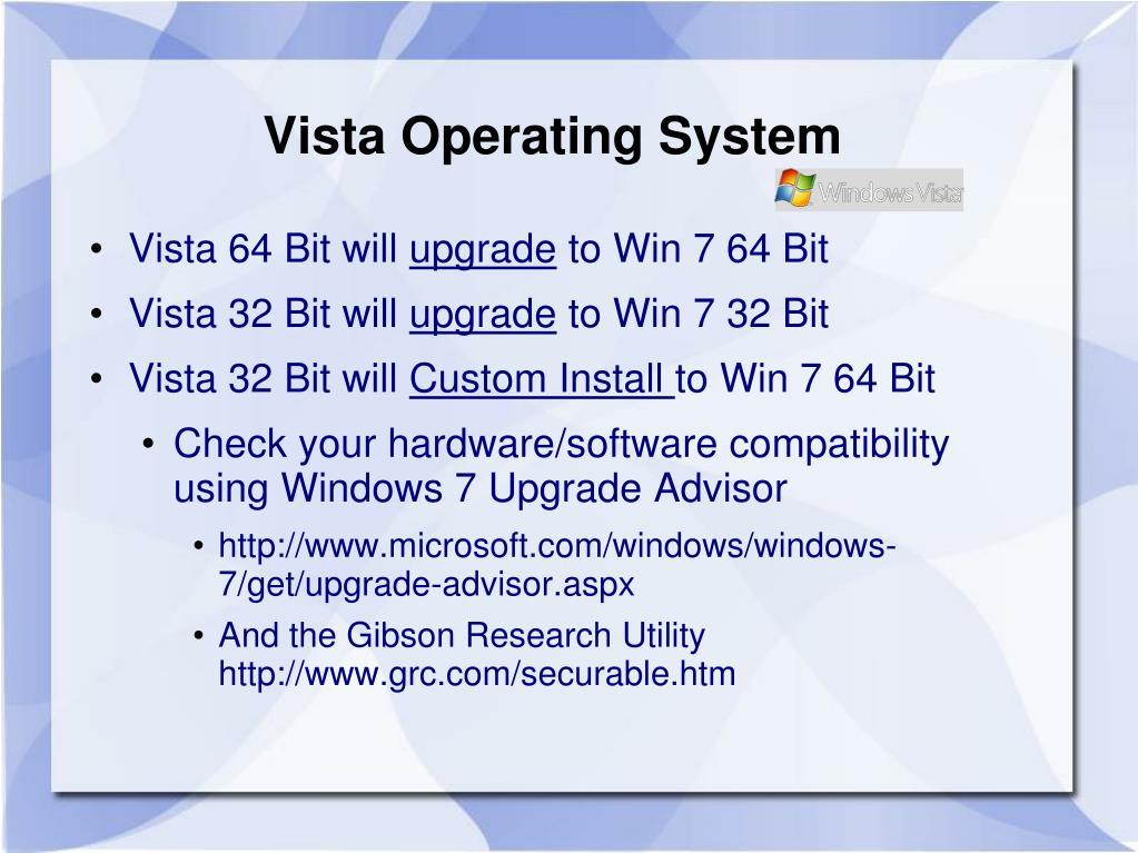 Vista Operating System