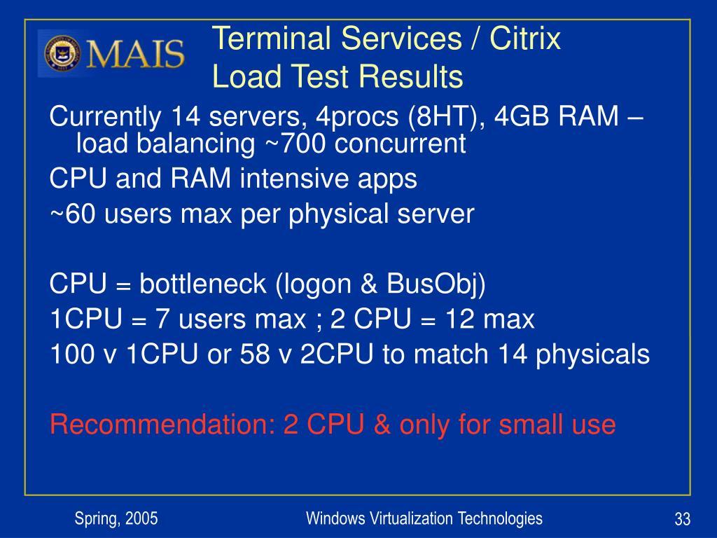 Terminal Services / Citrix