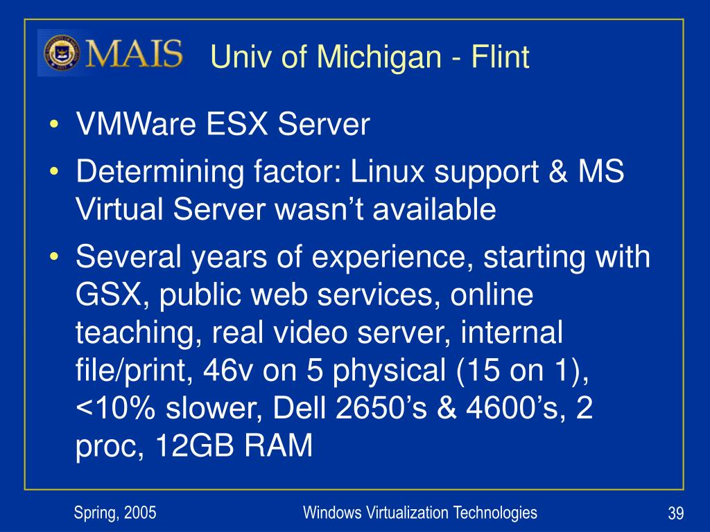 Univ of Michigan - Flint