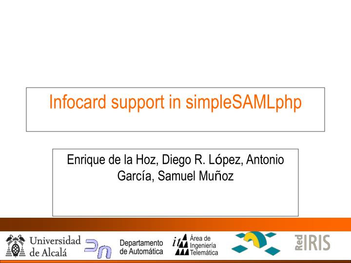 Infocard support in simplesamlphp
