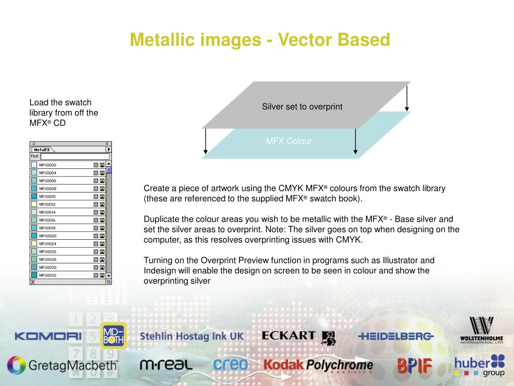 Metallic images - Vector Based