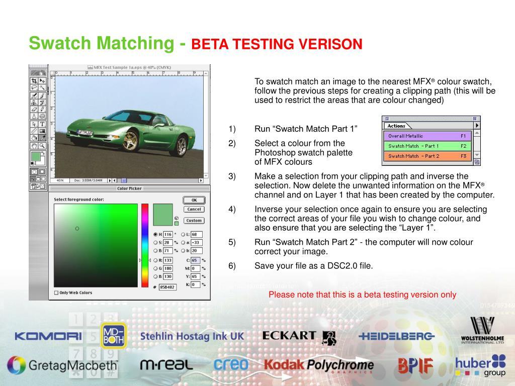Swatch Matching -