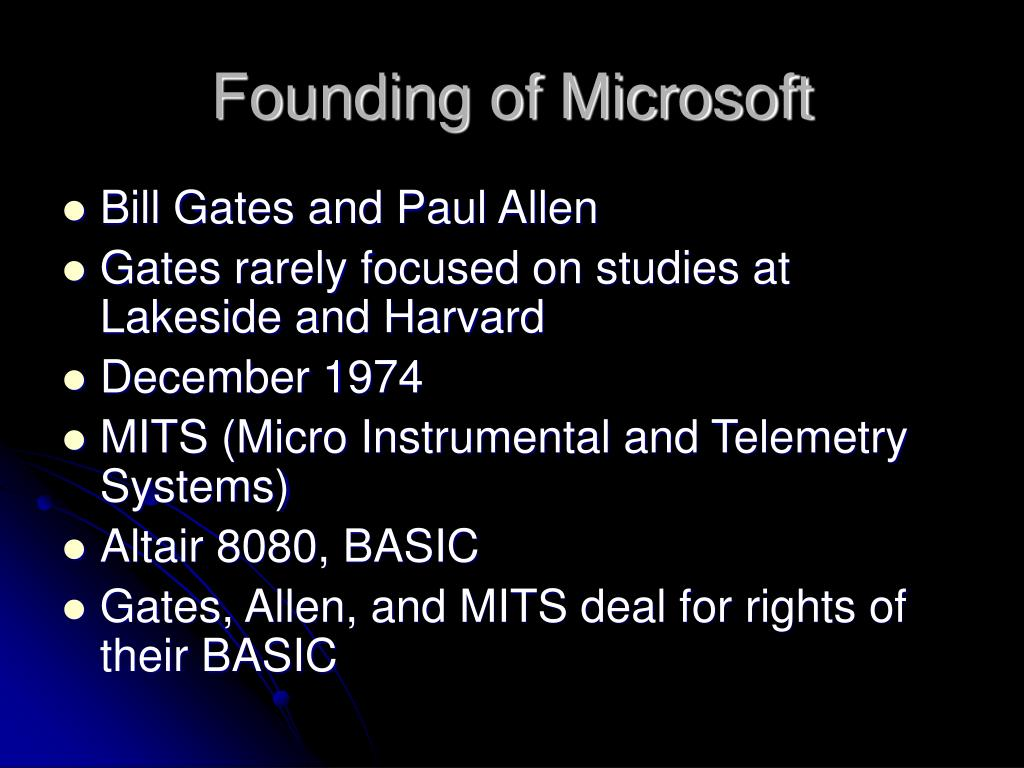 Founding of Microsoft