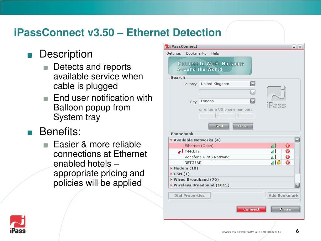 iPassConnect v3.50 – Ethernet Detection