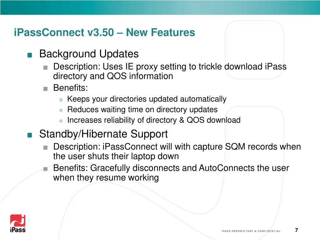iPassConnect v3.50 – New Features
