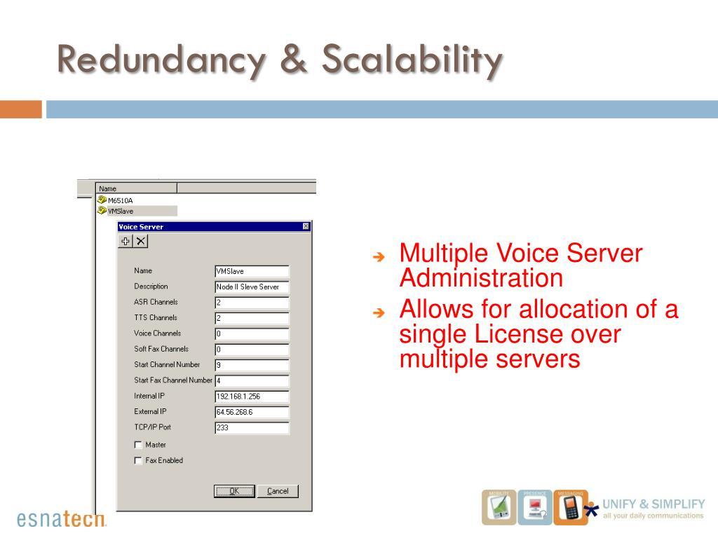 Redundancy & Scalability