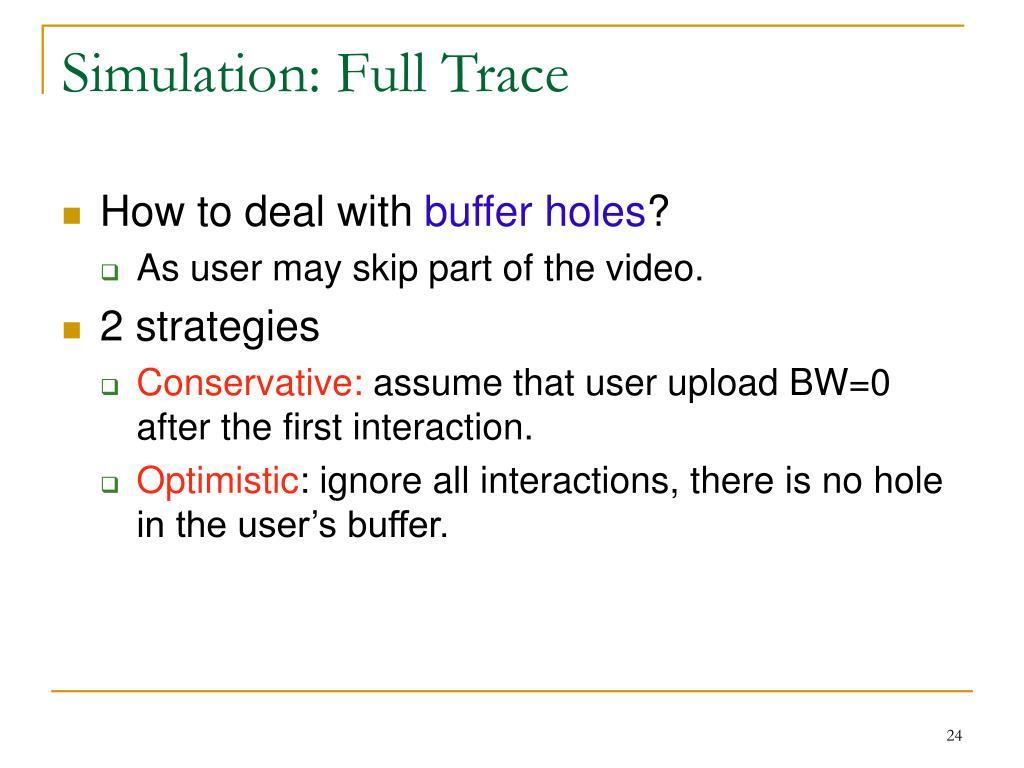 Simulation: Full Trace