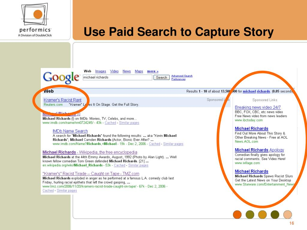 Use Paid Search to Capture Story