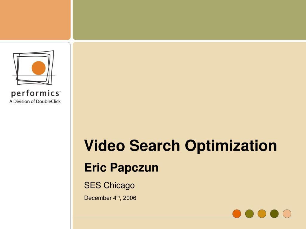 Video Search Optimization