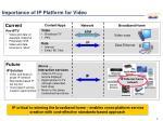 importance of ip platform for video
