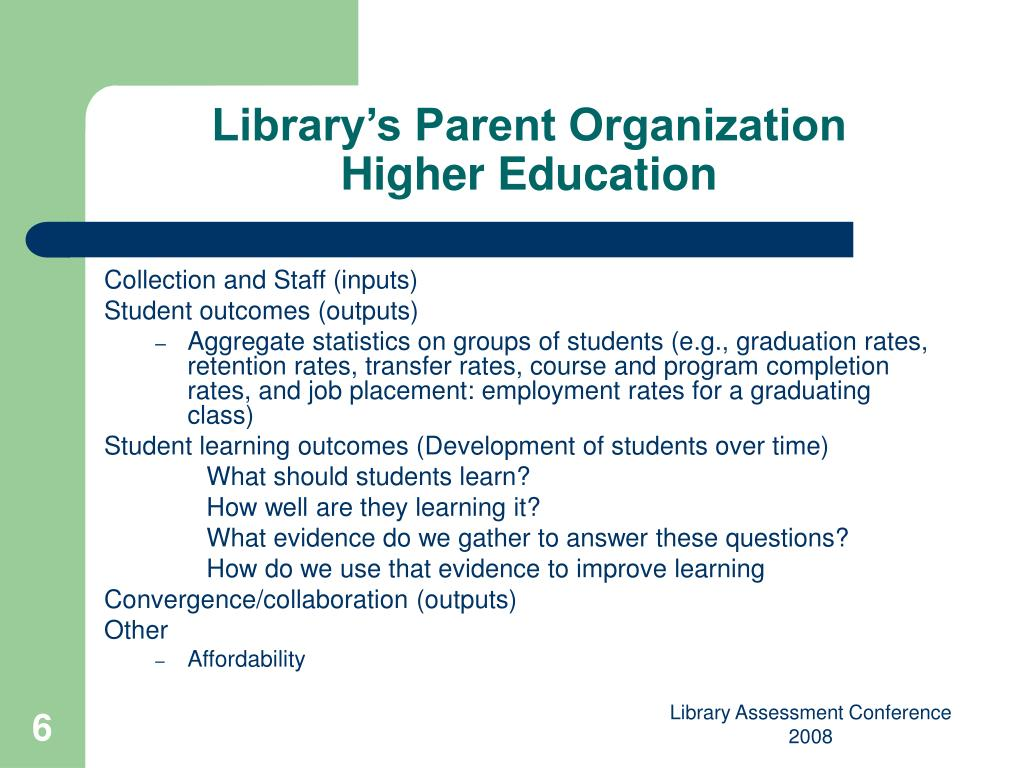 Library's Parent Organization