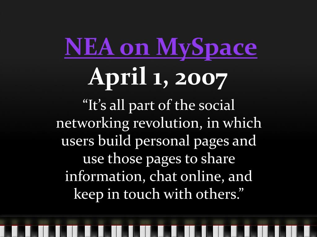NEA on MySpace