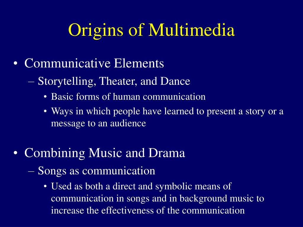 Origins of Multimedia