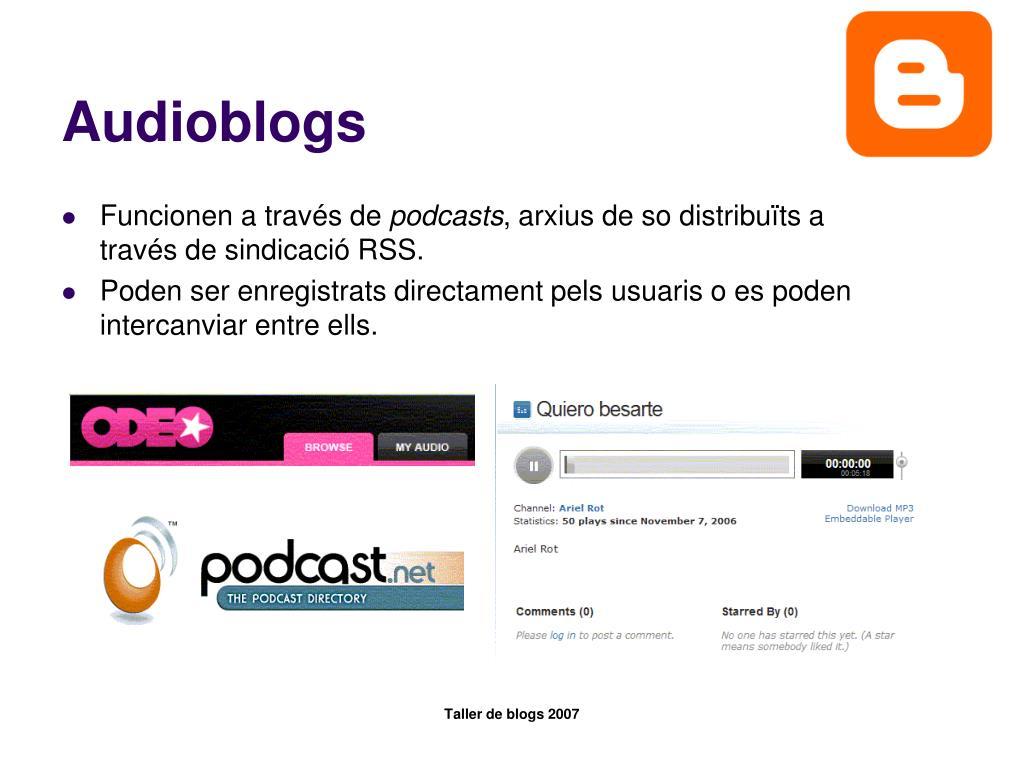 Audioblogs
