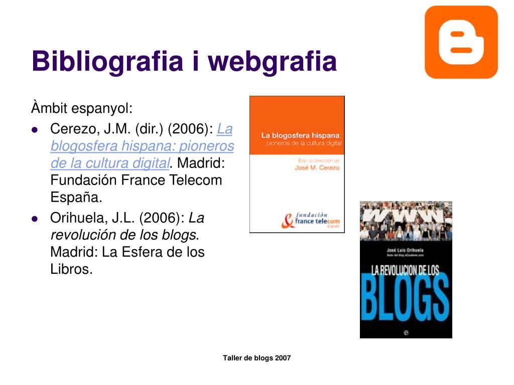Bibliografia i webgrafia