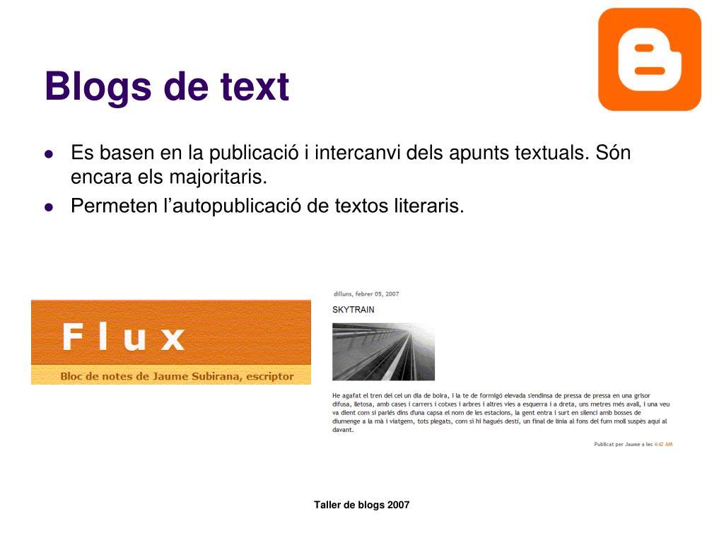 Blogs de text